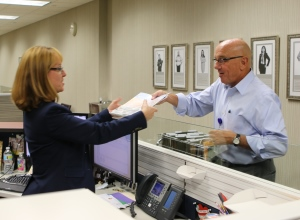 Joe Lopano delivers mail for United Way