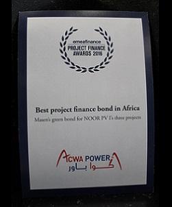 EMEA FINANCE – PROJECT FINANCE AWARDS 2016 – BEST PROJECT FINANCE BOND IN AFRICA