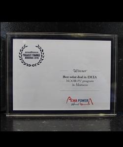 EMEA FINANCE – PROJECT FINANCE AWARDS 2016 – BEST SOLAR DEAL IN EMEA – NOOR PV PROGRAM IN MOROCCO