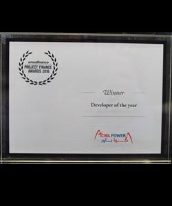 EMEA Finance – Project Finance Awards 2016 – Developer of the Year