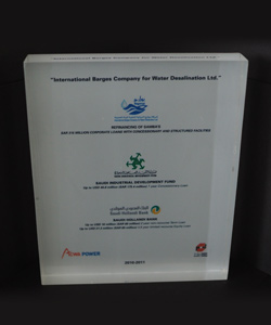 INTERNATIONAL BARGES COMPANY FOR DESALINATION 2011