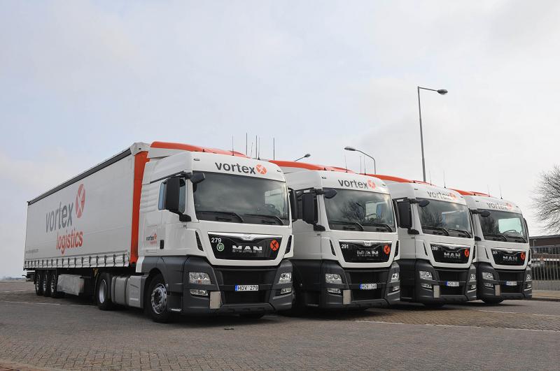 Vortex Logistics aus den Niederlanden erneuert seine Flotte mit 100 MAN TGX EfficientLine Zugmaschinen.