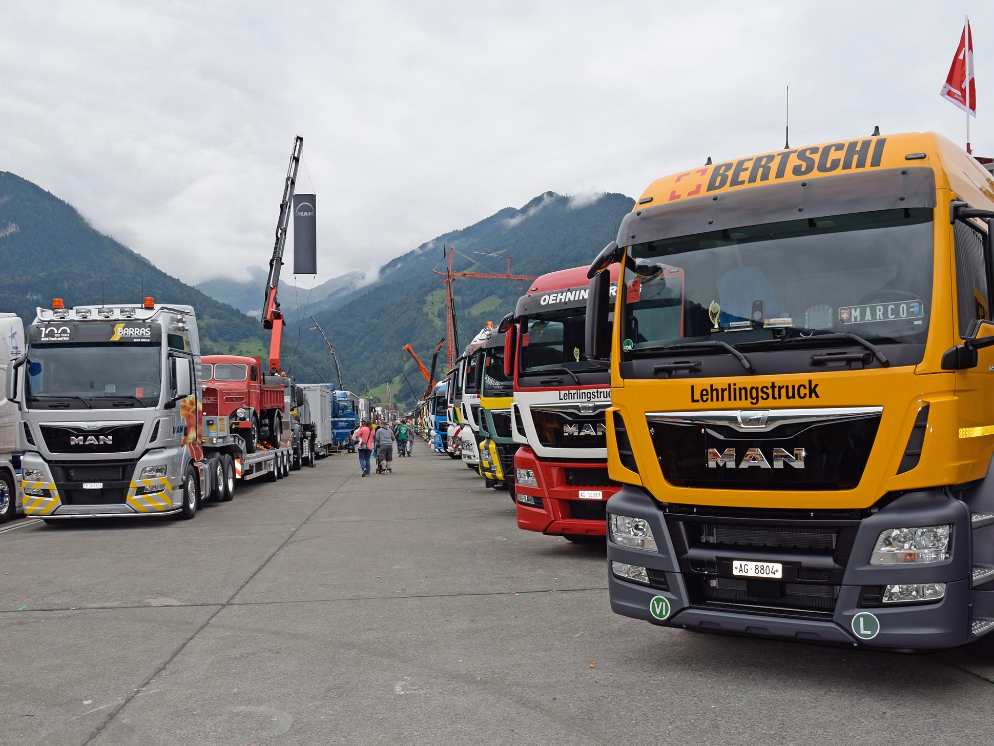 MAN-Lkw auf dem Trucker & Country Festival in Interlaken/Schweiz