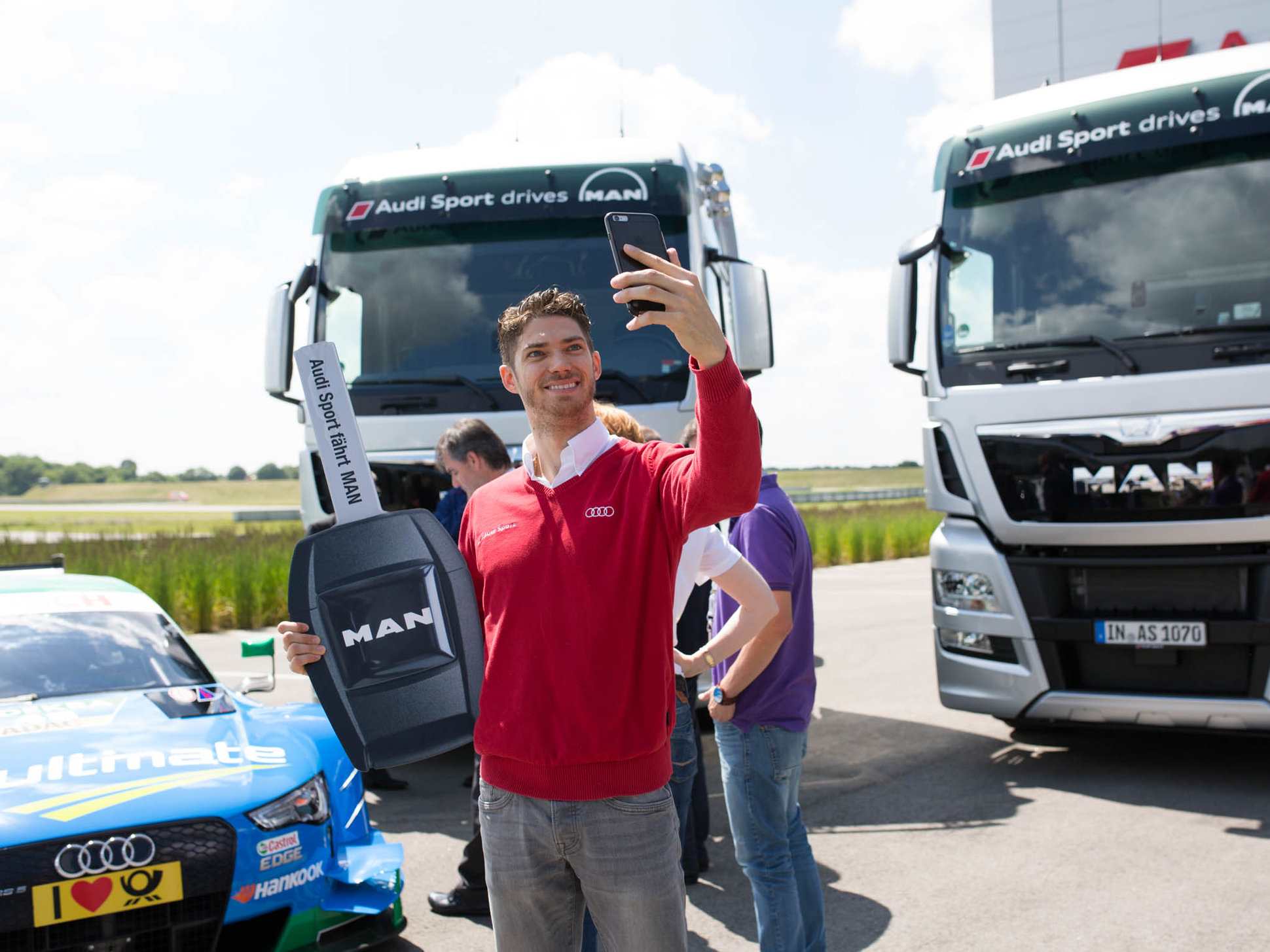 Edoardo Mortara, DTM driver of Audi Sport is happy about the new trucks
