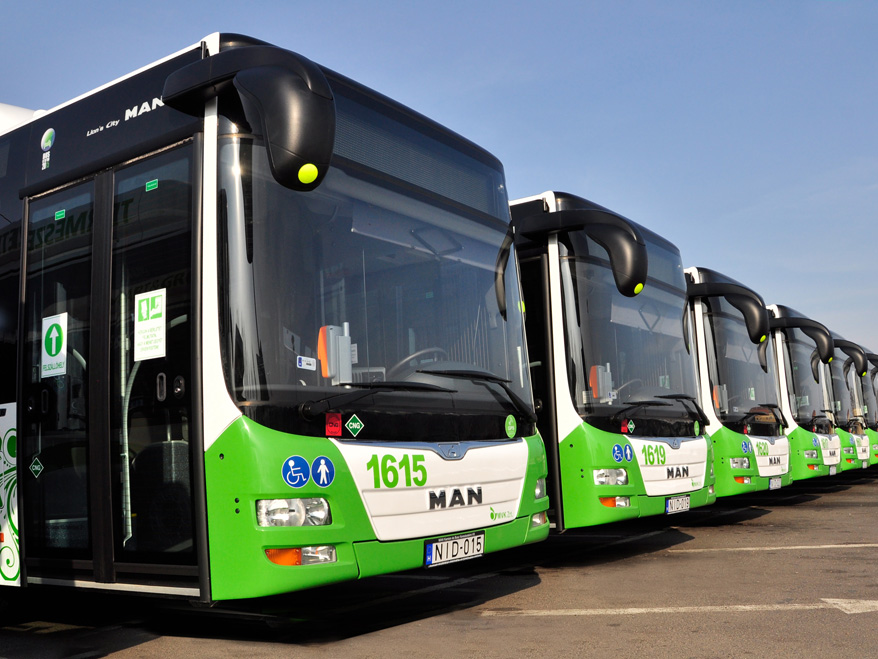 40 solo and 35 articulated MAN Lion's City GNC buses contribute to the modernisation of public transport in Miskolc.