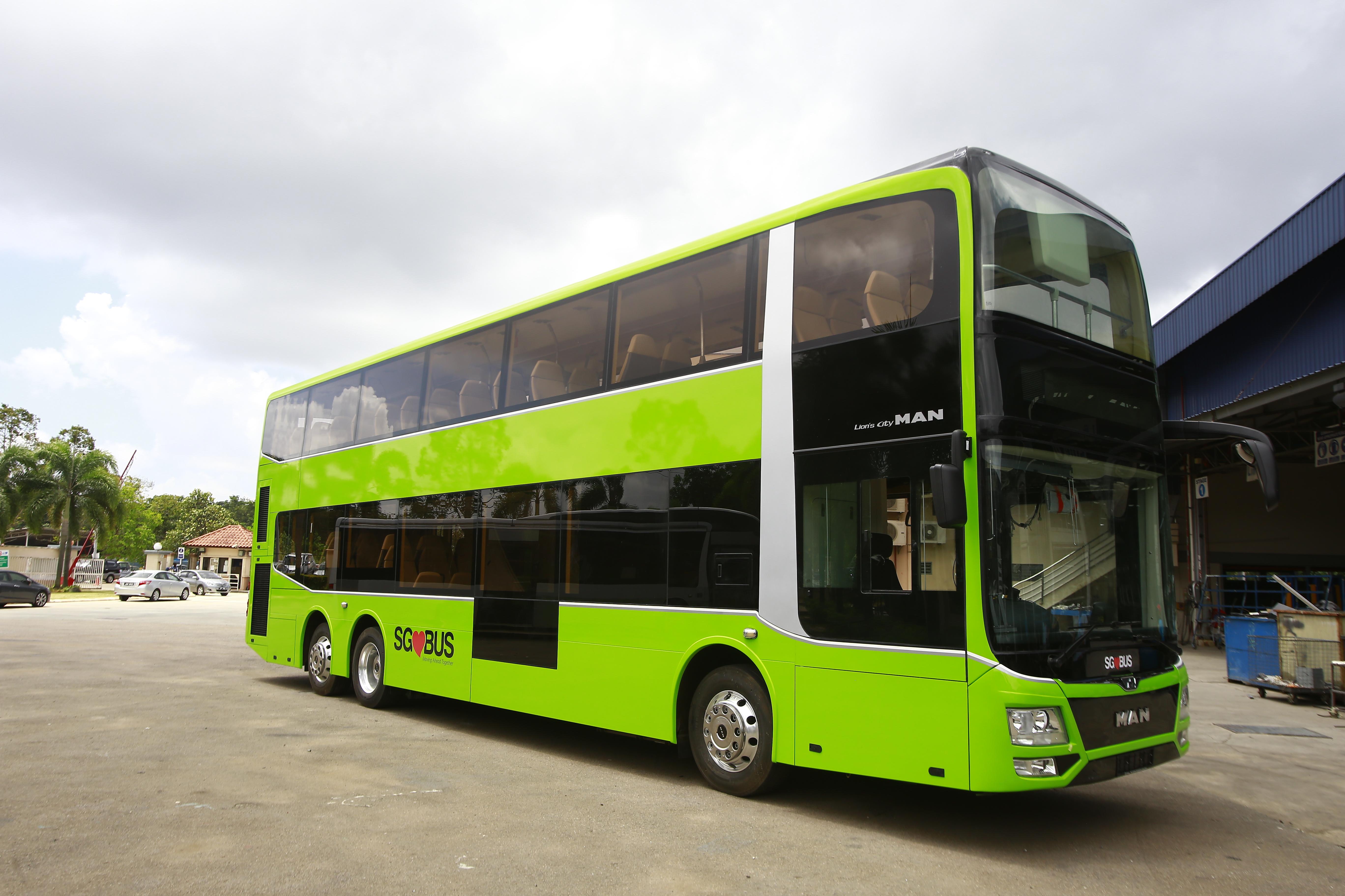 Bei den neuen Doppeldeckern für Singapur arbeitete MAN Truck & Bus mit dem malaysischen Aufbauhersteller Gemilang zusammen