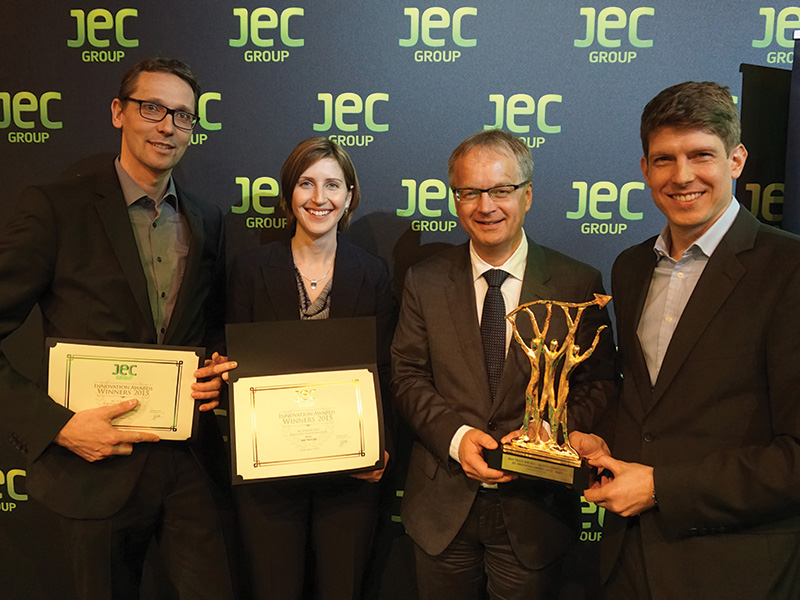 Engineers of MAN and Munich Composites have won the JEC Award 2015 for light carbon-fibre spring carriers