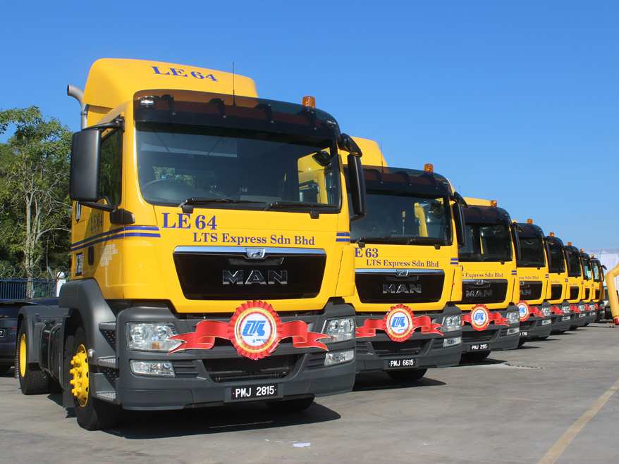 Handover of 70 MAN TGS to the Malaysian road haulage firm LTS Group