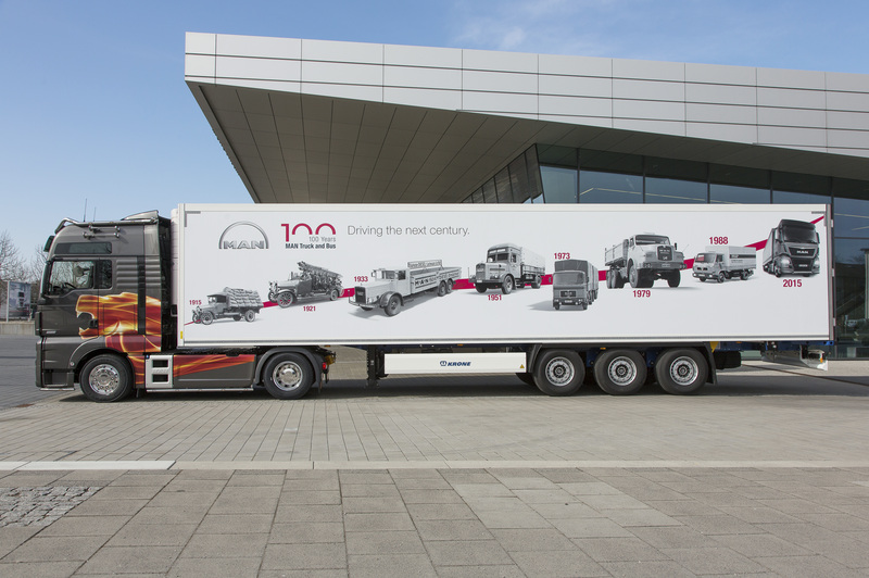 "MAN presents for the product anniversary a special highlight: The TGX D38 ""100 Years Edition"""