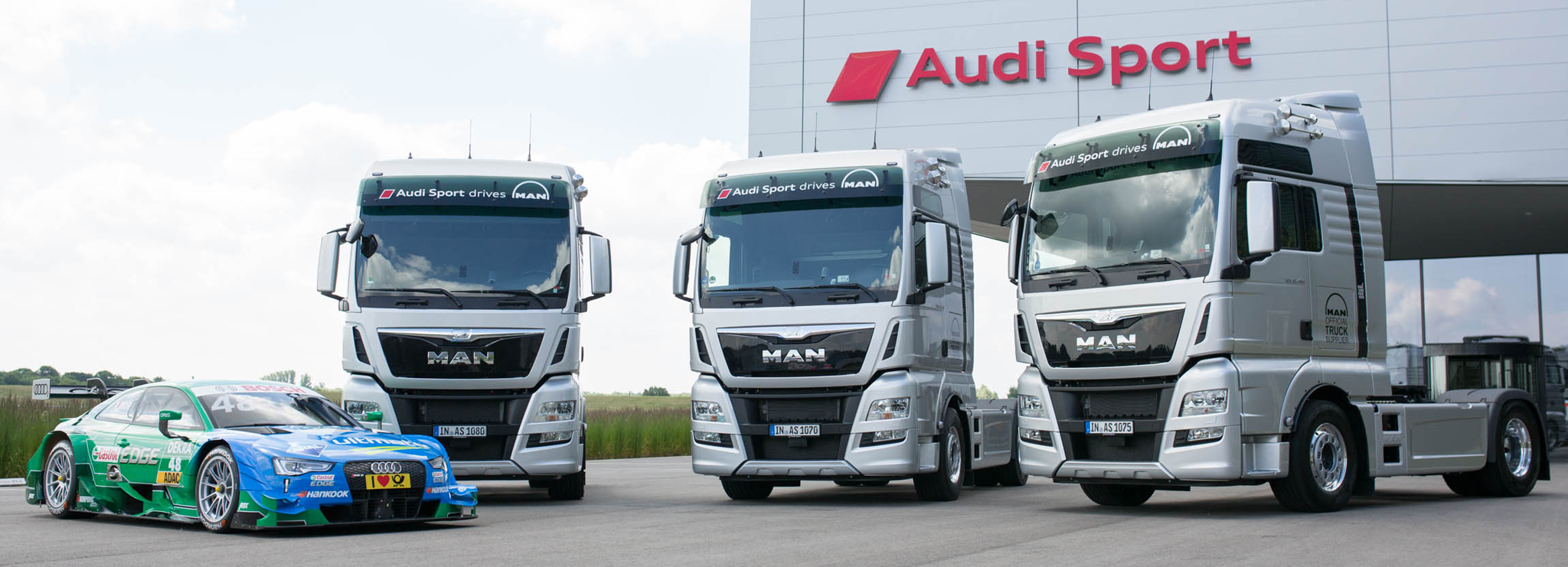 Eight MAN TGX tractor units for Audi Sport