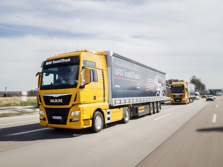MAN Truck2Truck: Platooning by MAN Truck & Bus