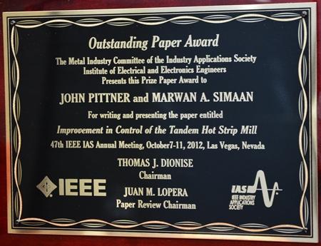 IEEE Plaque Pittner and Simaan