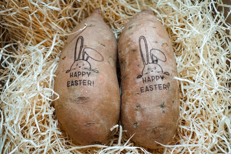 Zoete aardappelen- Pasen