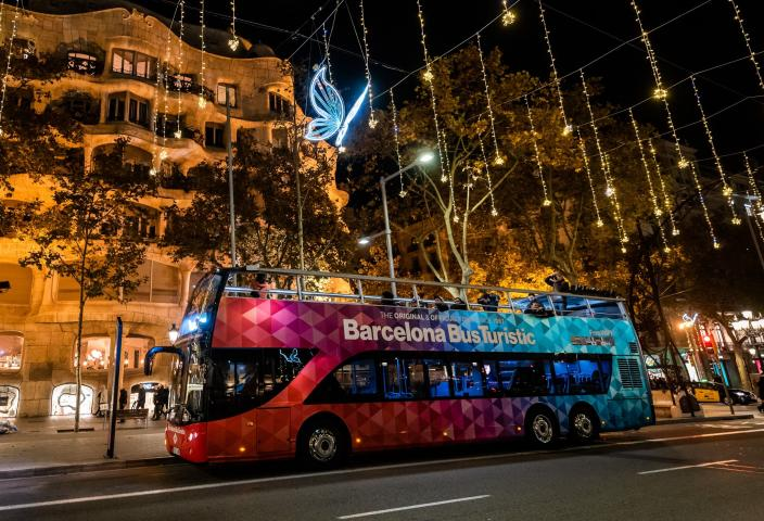 Barcelona Night Tour Christmas Lights