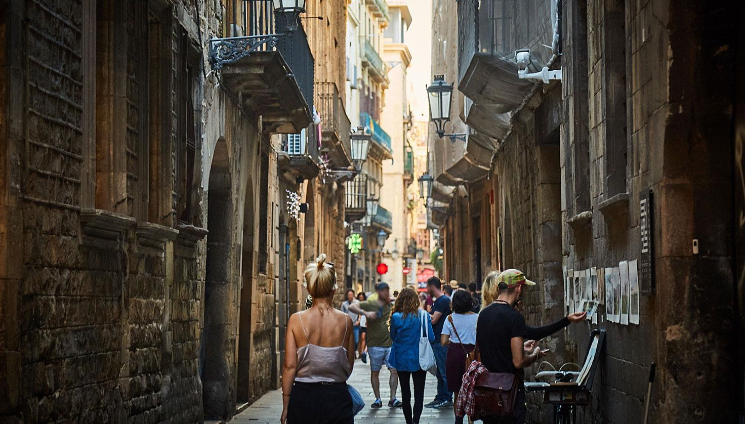 Foto La calle de Montcada Barcelona
