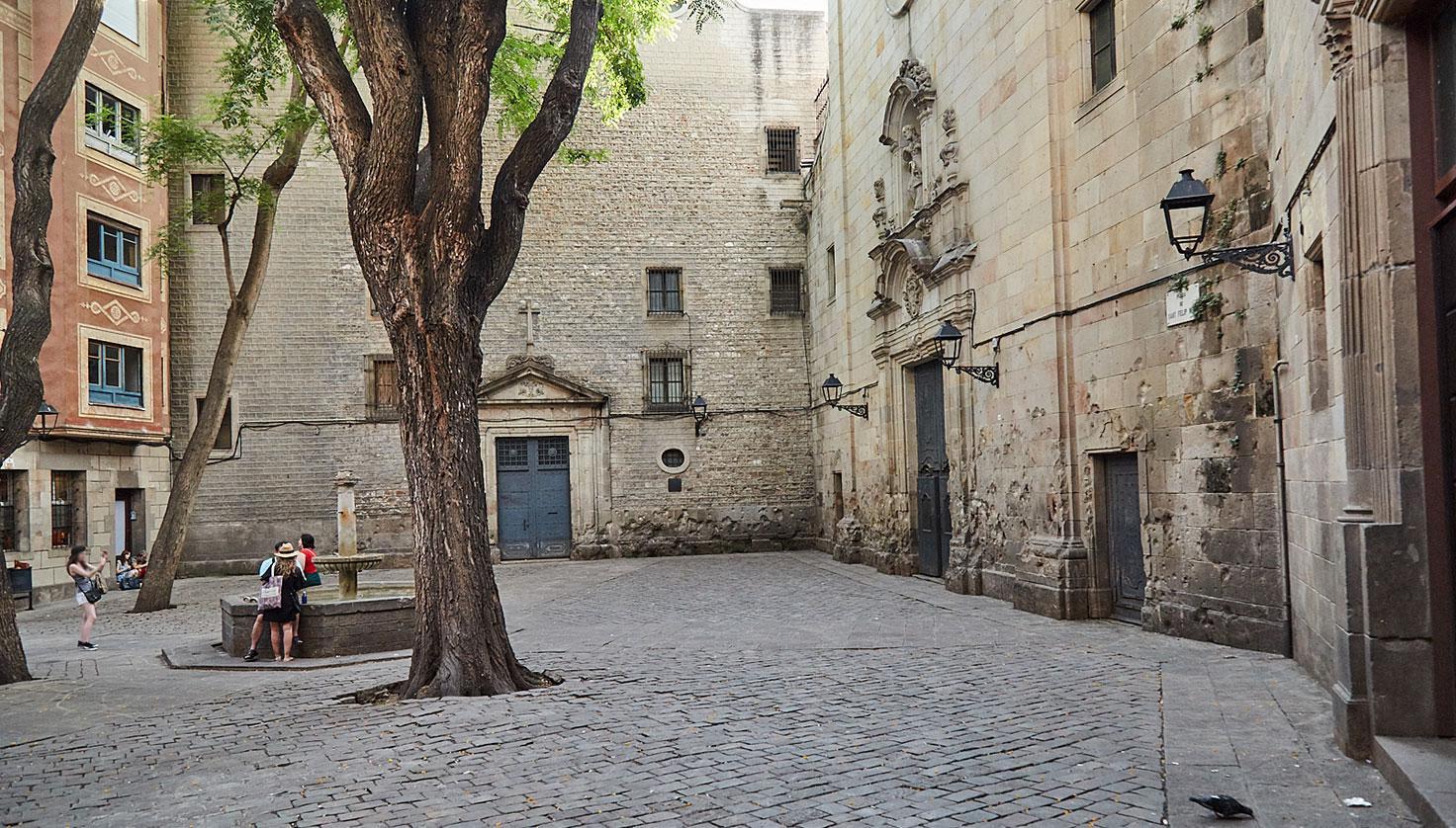 Foto Plaça Sant Felip Neri de Barcelona