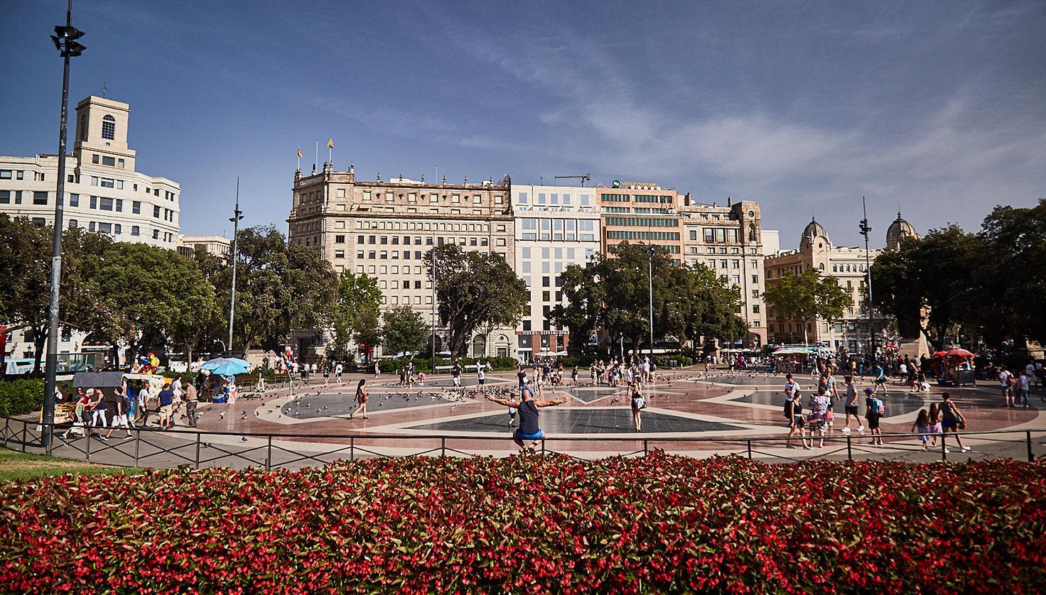 Plaça Catalunya fotografie
