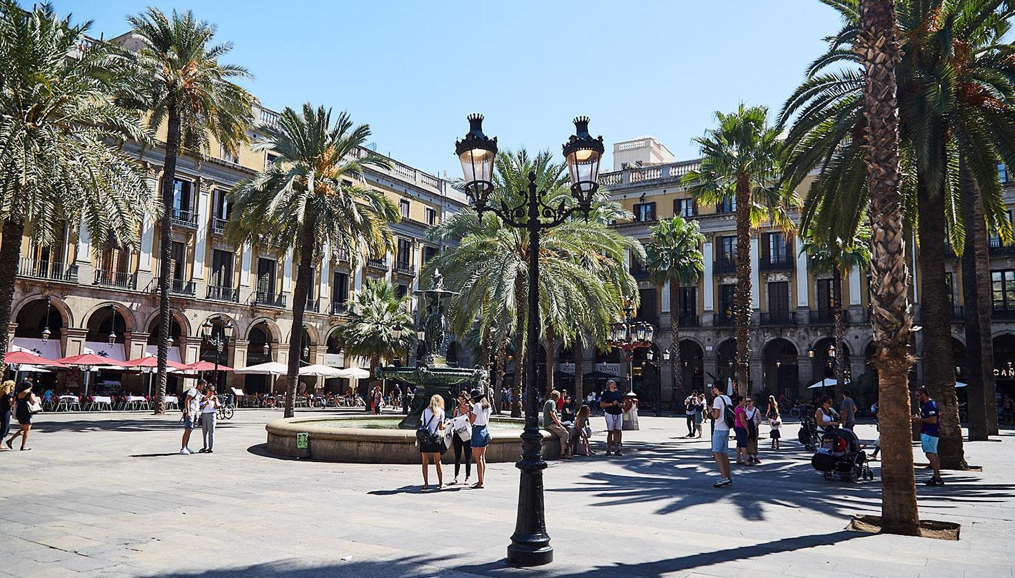 Plaça Reial Barcelona fotografie