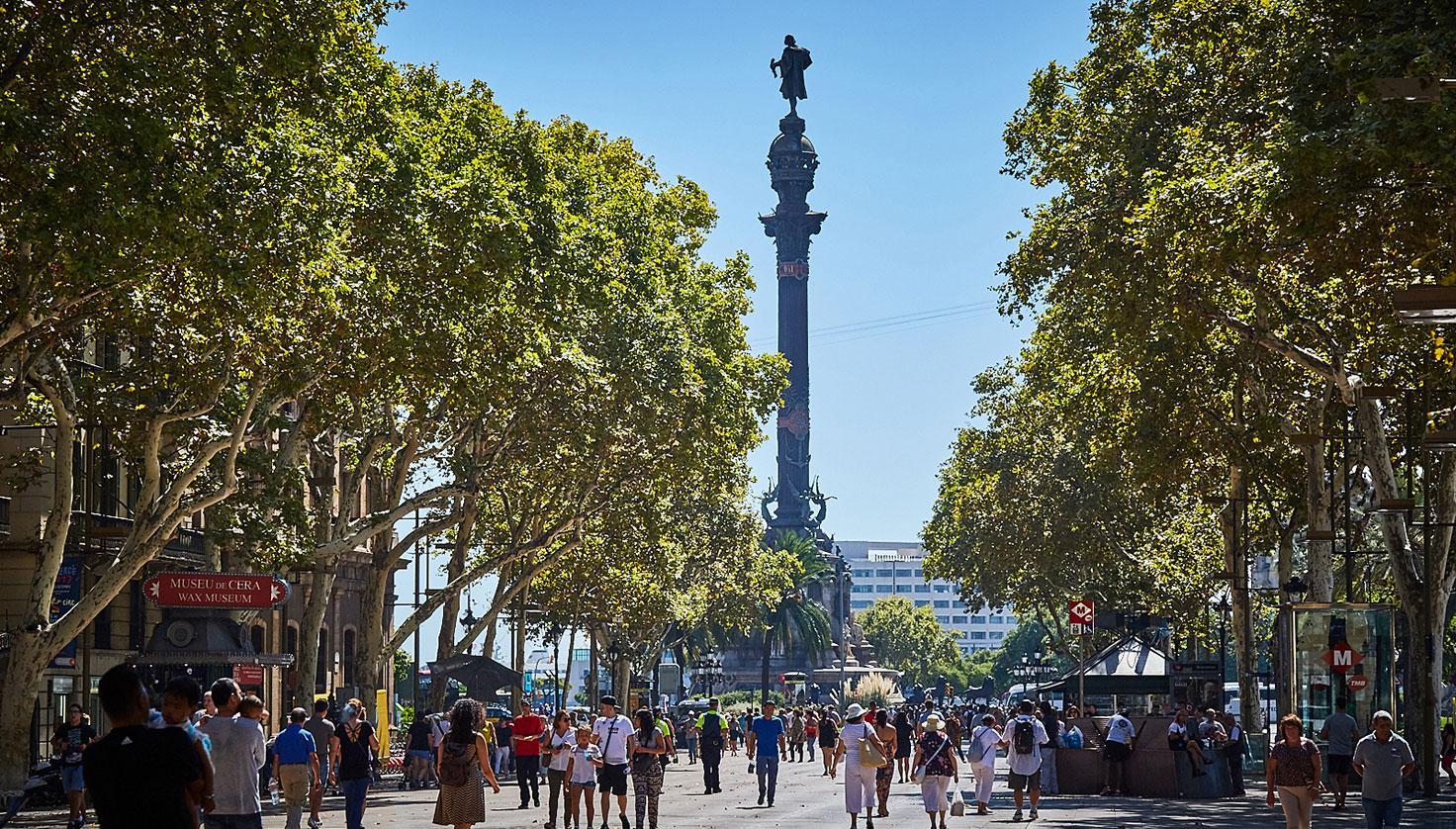 Photo La Rambla de Santa Mònica Barcelona