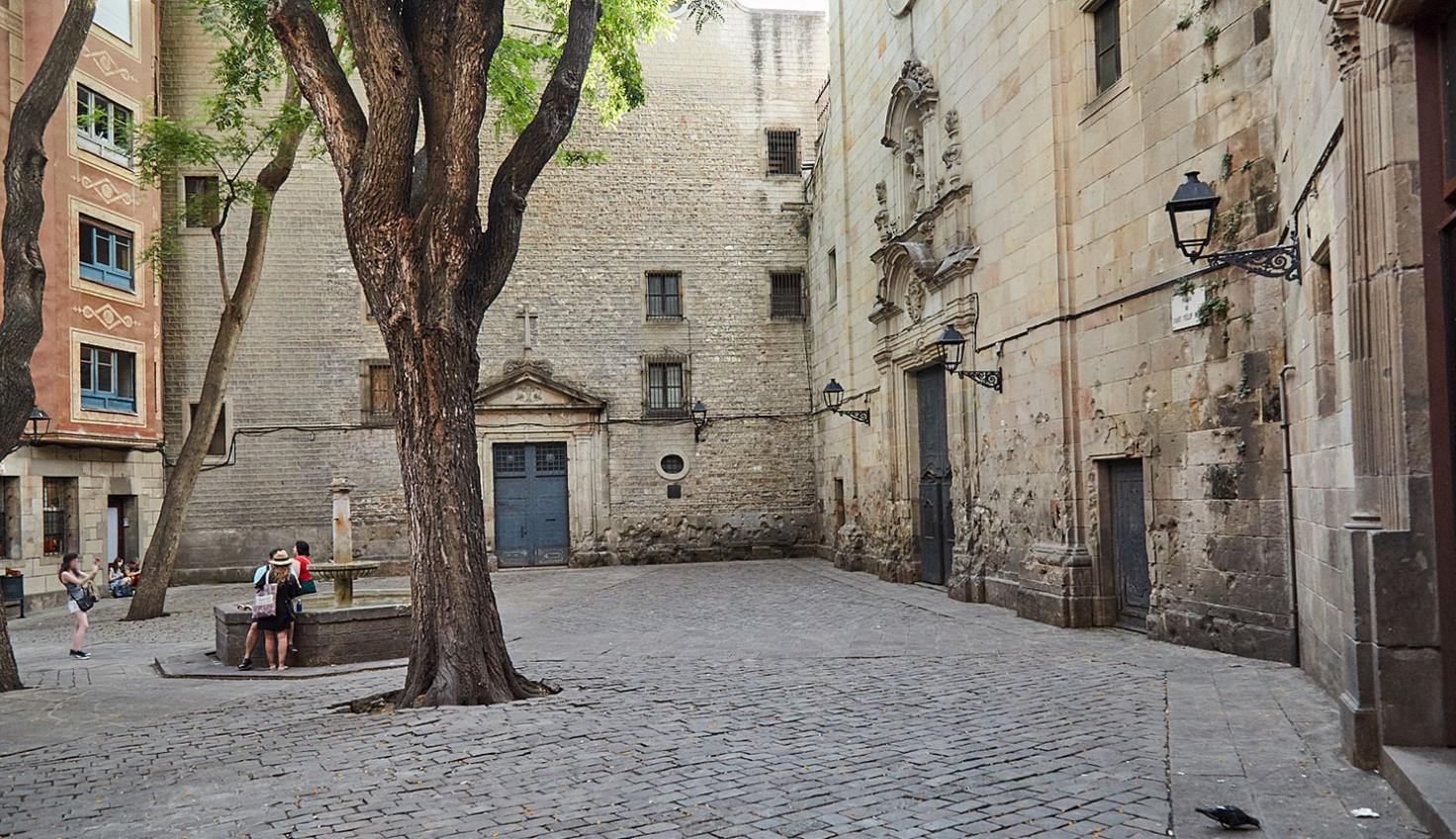 Plaça Sant Felip Neri von Barcelona fotografie