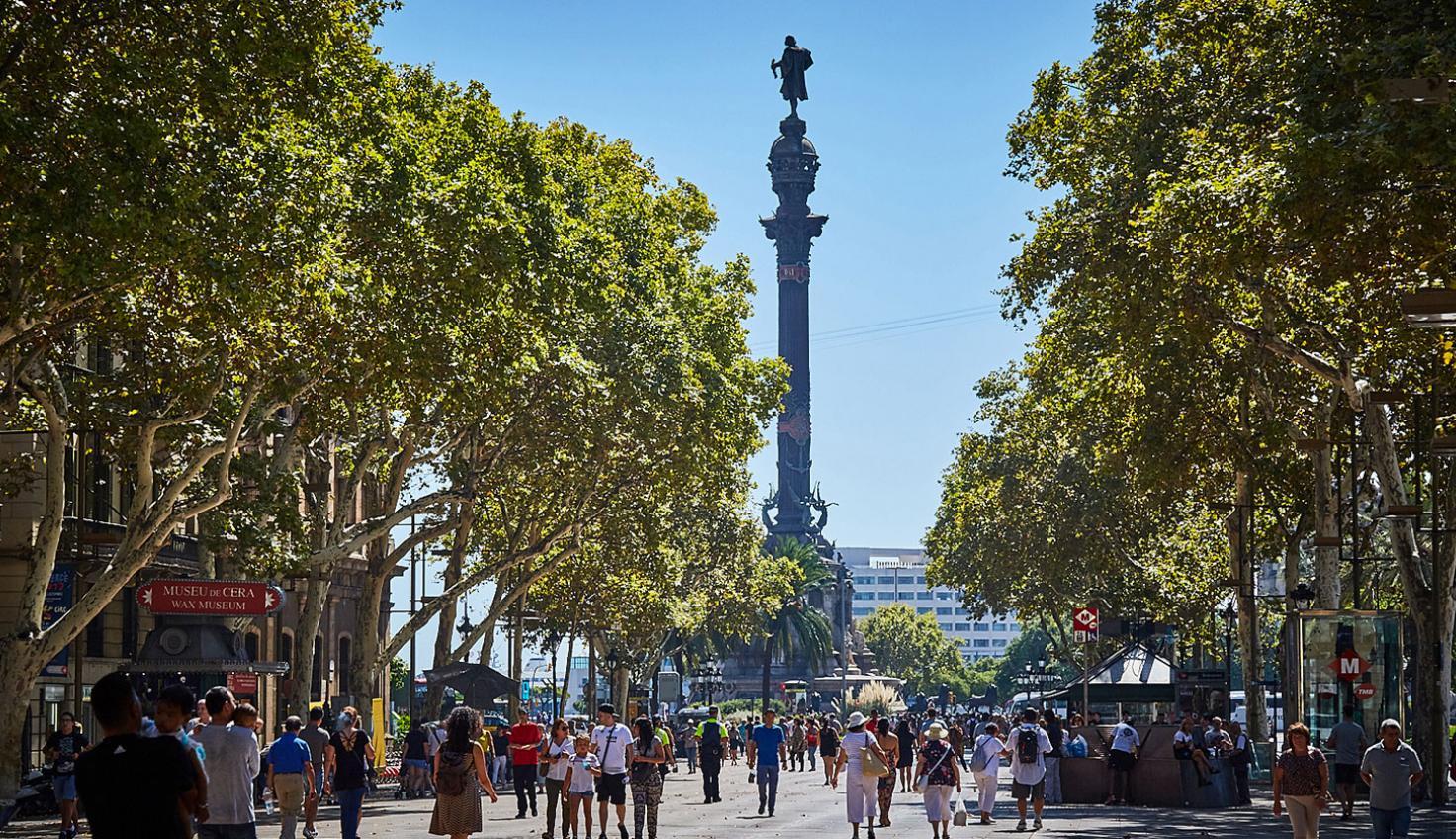 Foto La Rambla de Santa Mònica Barcellona