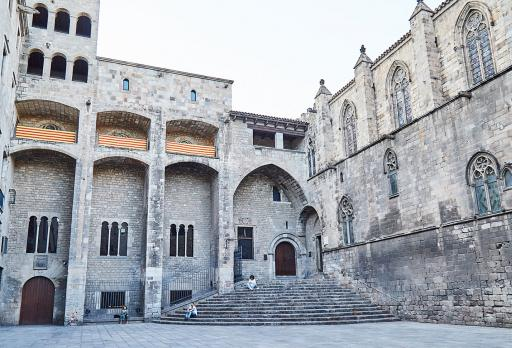 Saló del Tinell – Kapelle Santa Àgata – Aussichtsturm – Plaça del Rei  fotografie
