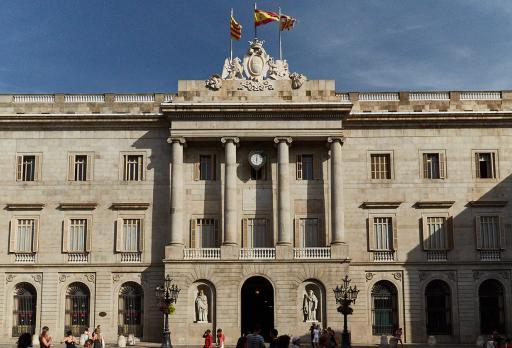 Plaça de Sant Jaume Barcelona fotografie
