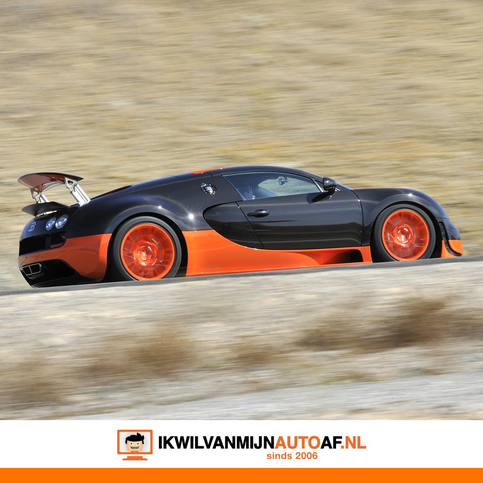 Een supercar als de Bugatti mag niet ontbreken