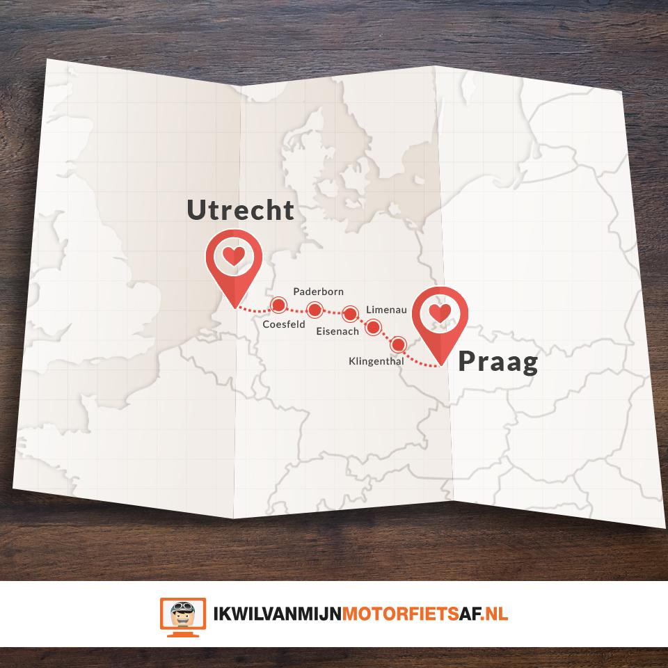 Motor route Utrecht Praag