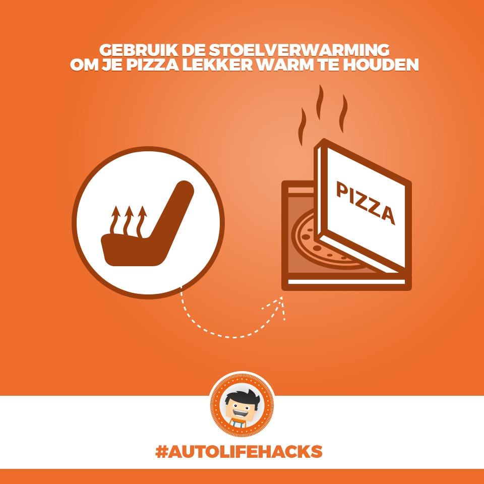Stoelverwarming pizza