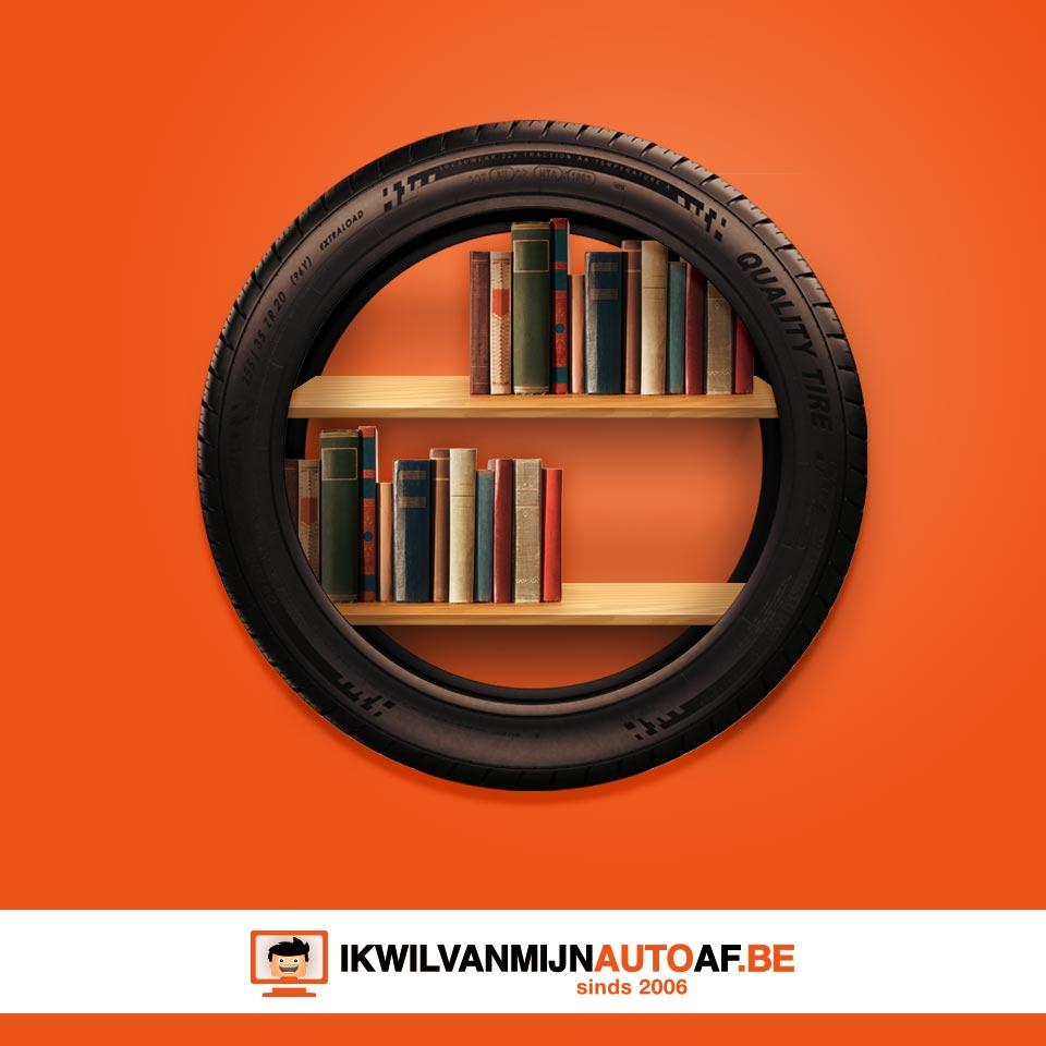 Boeken in de autoband