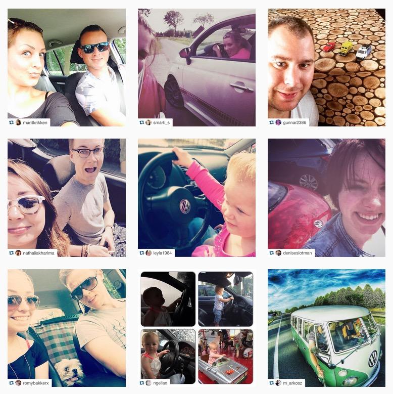 Instagram autoselfie actie