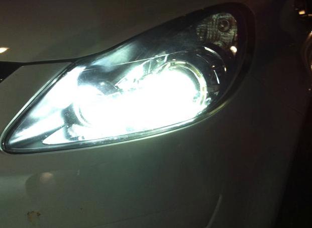Autolampen in kleur