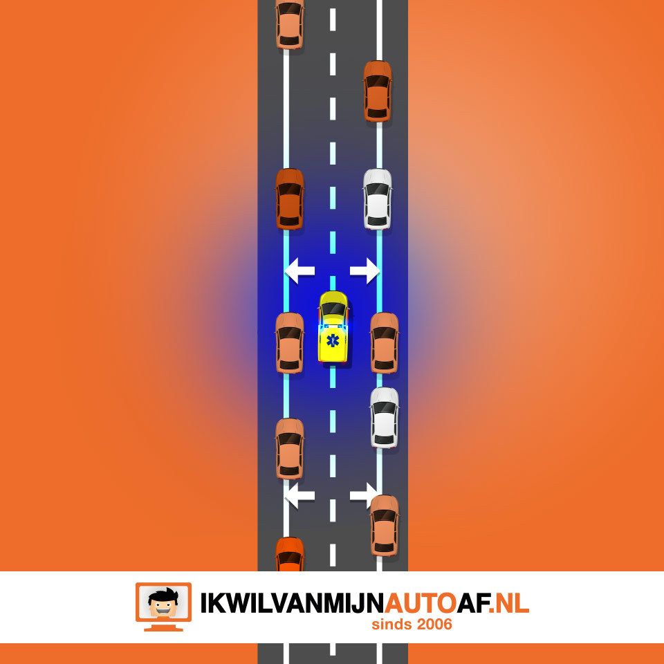 Wanneer je een ambulance op de snelweg treft