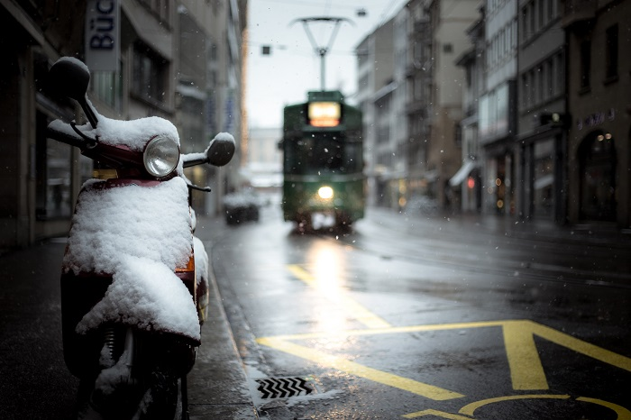 scooter winterstalling
