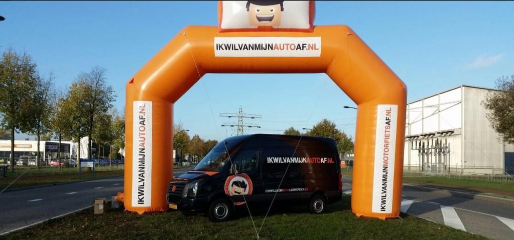 Startboog iwvmaa Twente Rally
