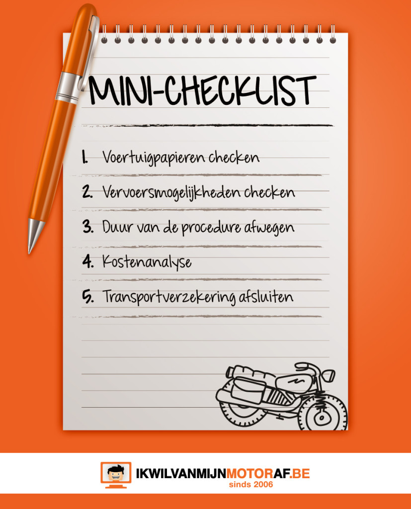 Checklist motor importeren