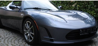 Tesla groene auto
