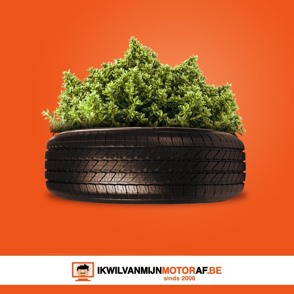 Plantenbak van je motorband