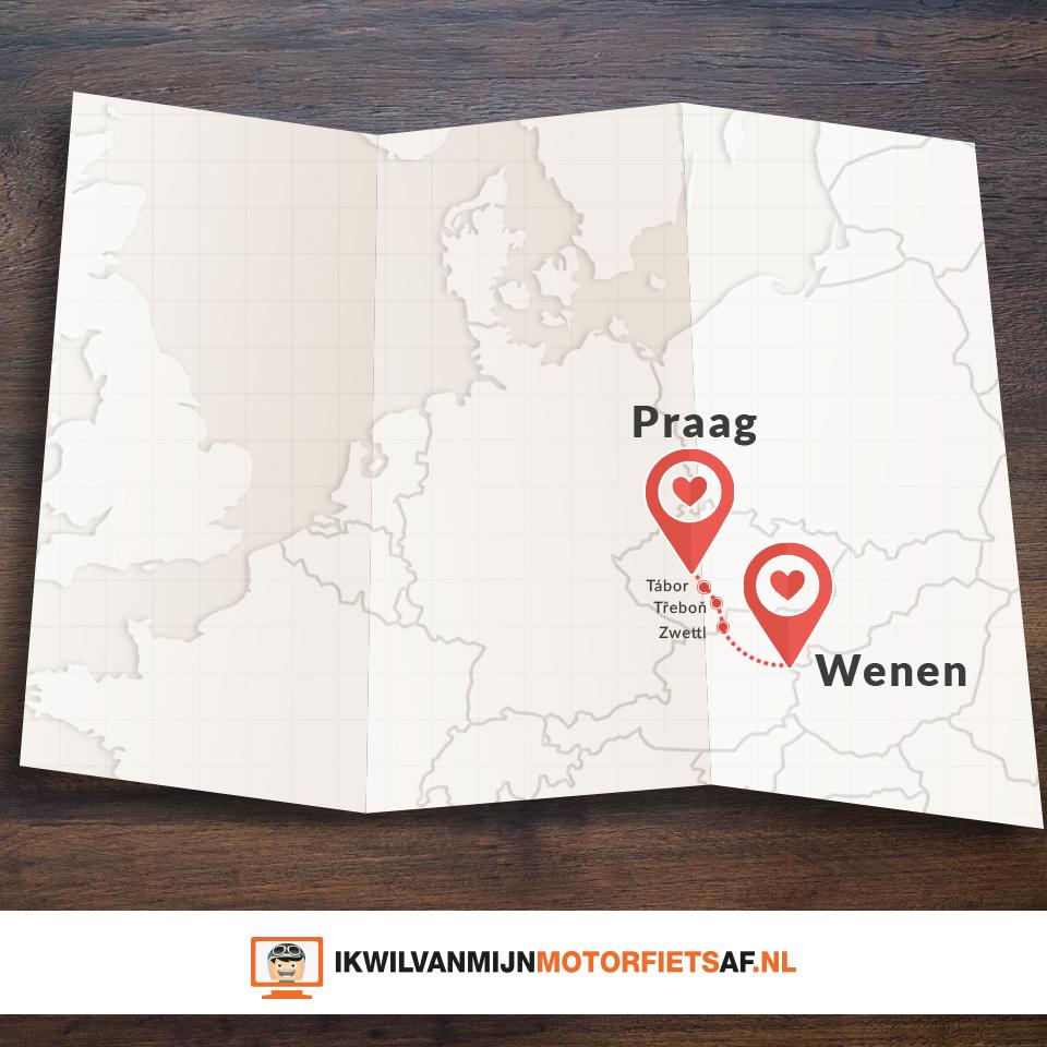 Motor route Praag Wenen