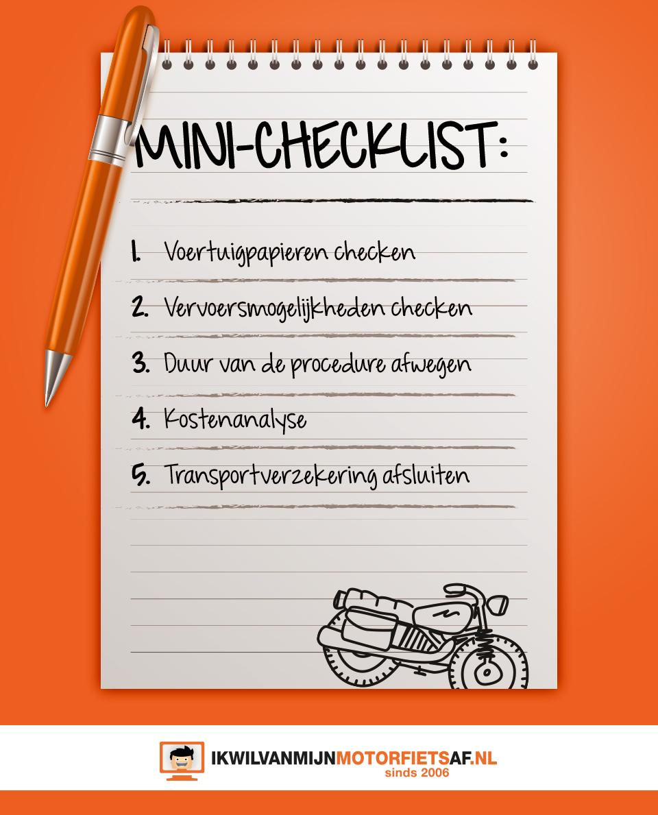checklist motor import