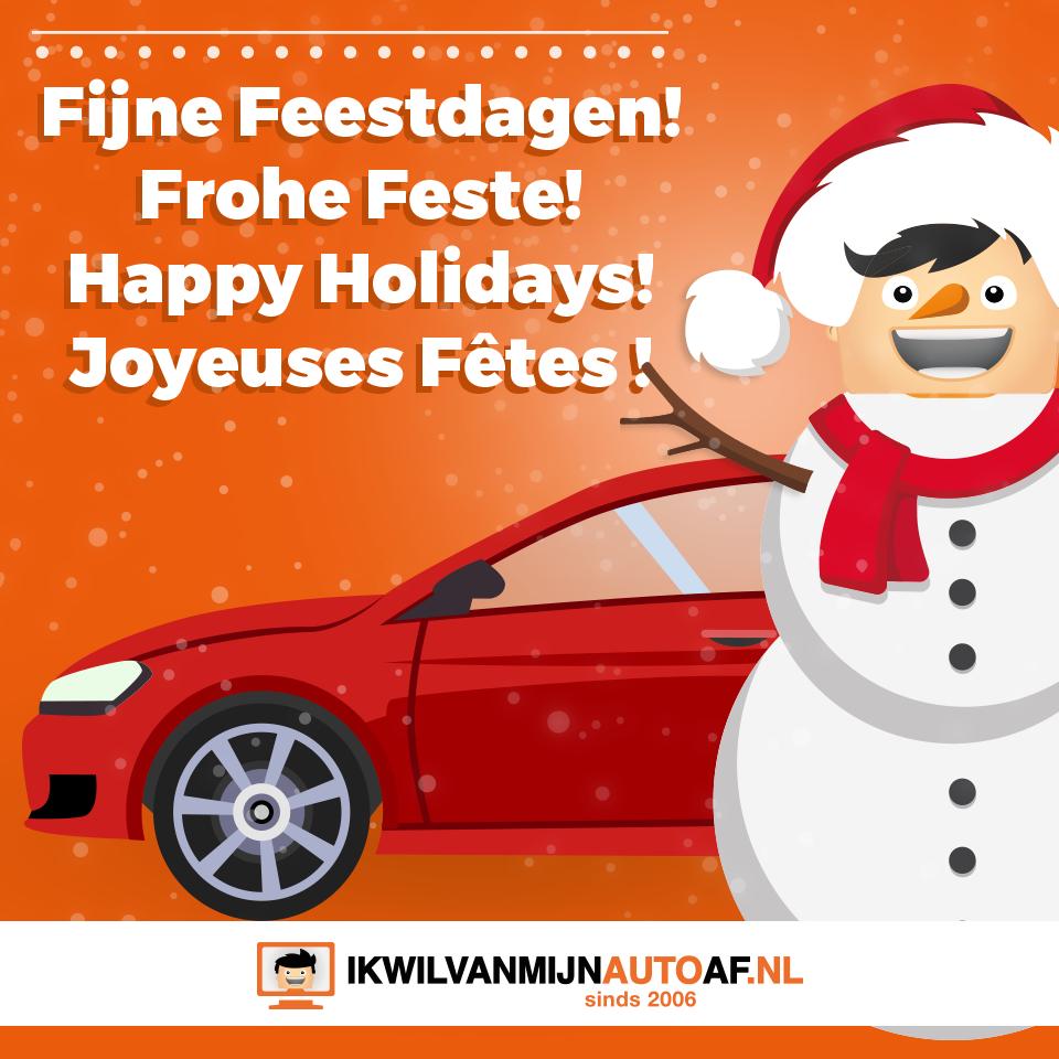 Ikwilvanmijnautoaf.nl wenst je fijne feestdagen