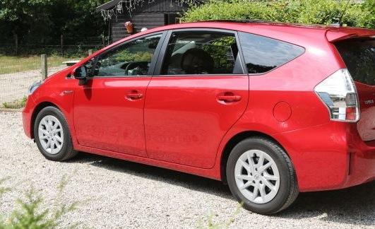 Prius Toyota terug garage