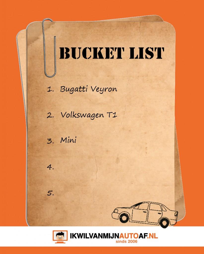 Wat staat er allemal op je bucket list