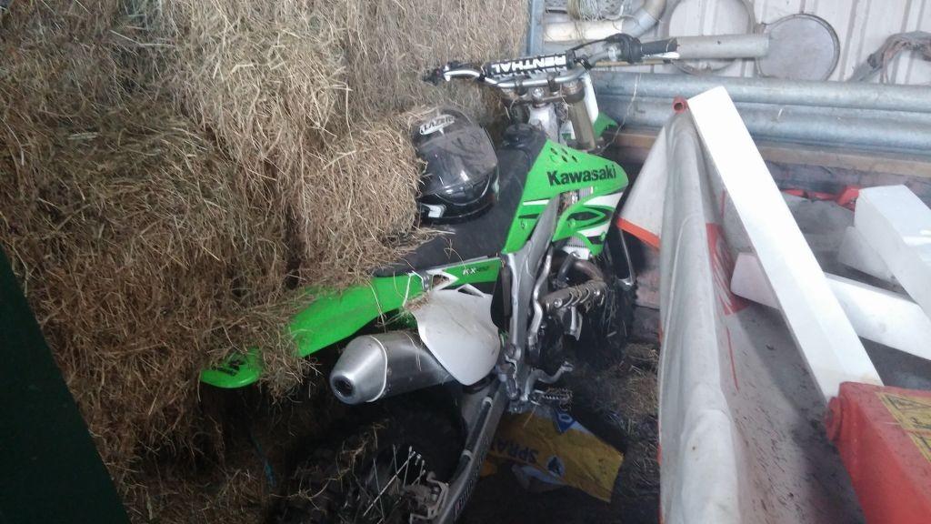 Kawasaki crossmotor verkopen
