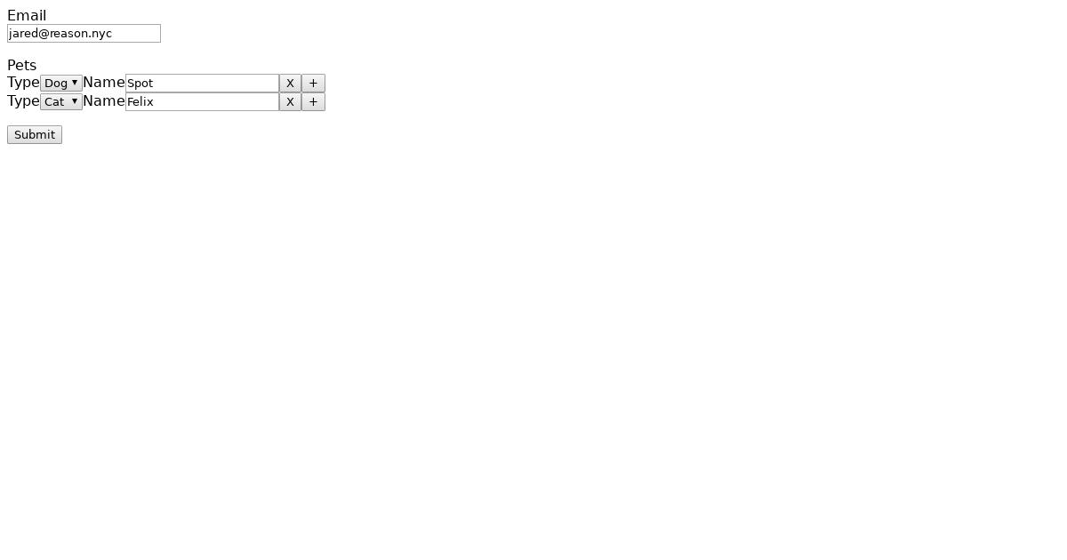 Formik Add/Remove Array Elements Example - CodeSandbox
