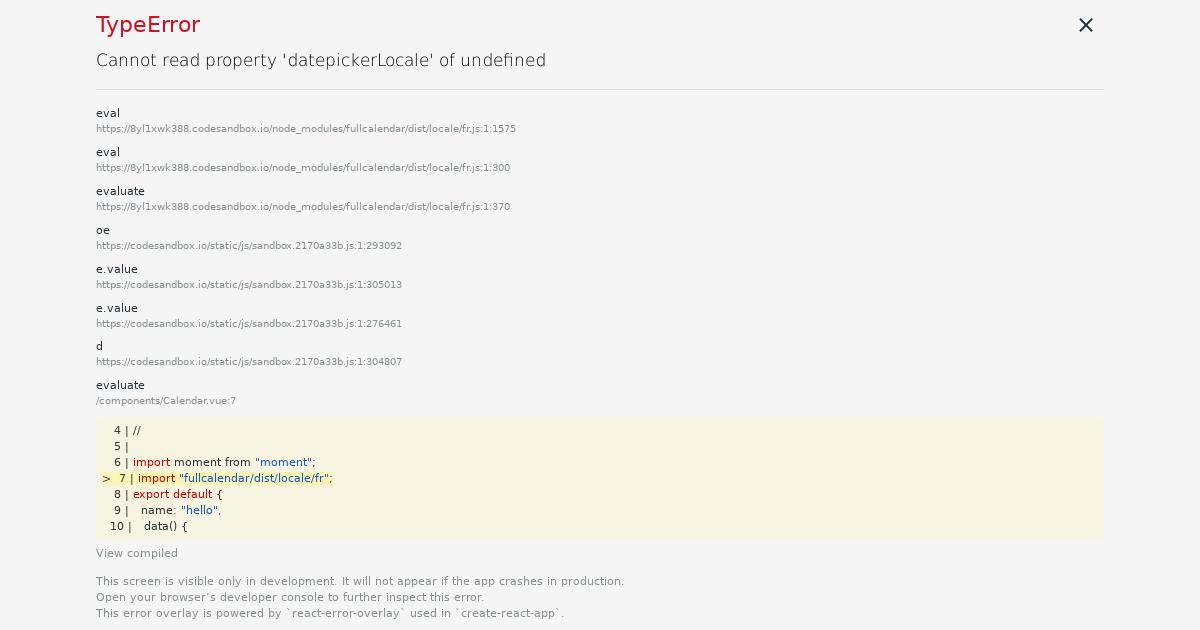 Vue fullcalendar scheduler example - CodeSandbox