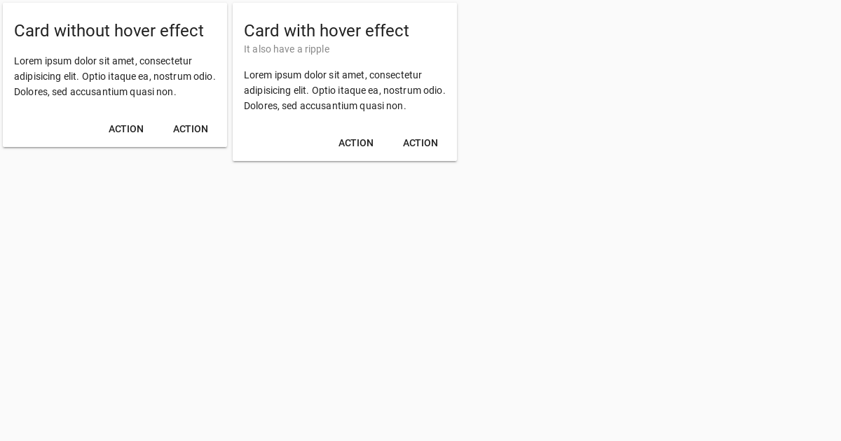 Vuetify Hover Effect