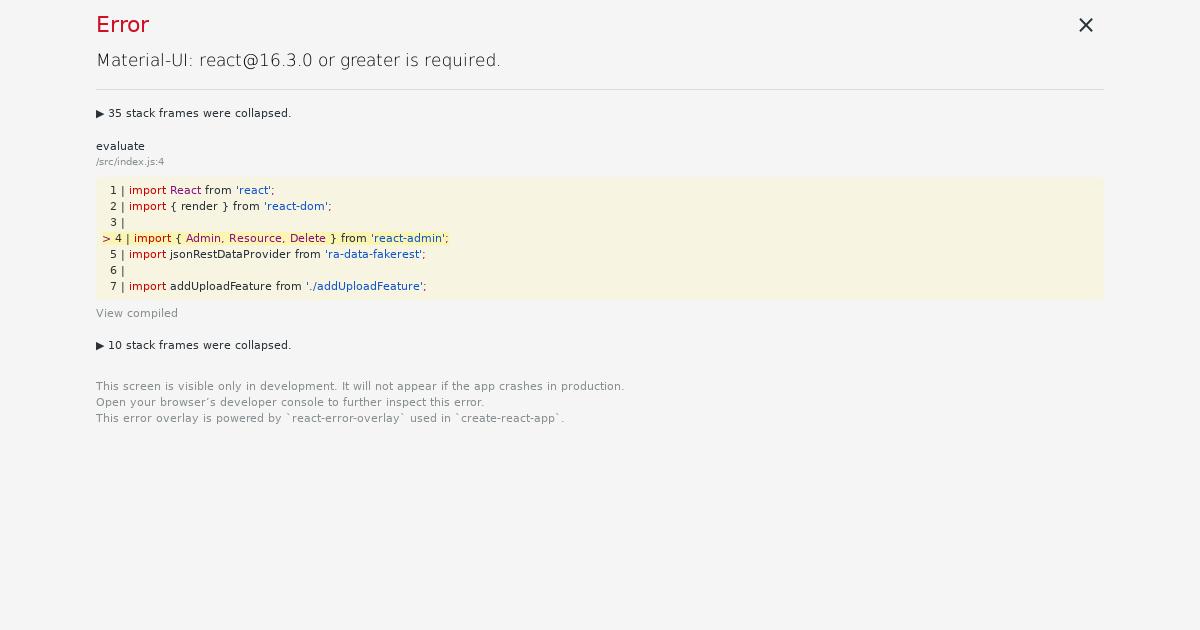 react-admin demo example - CodeSandbox