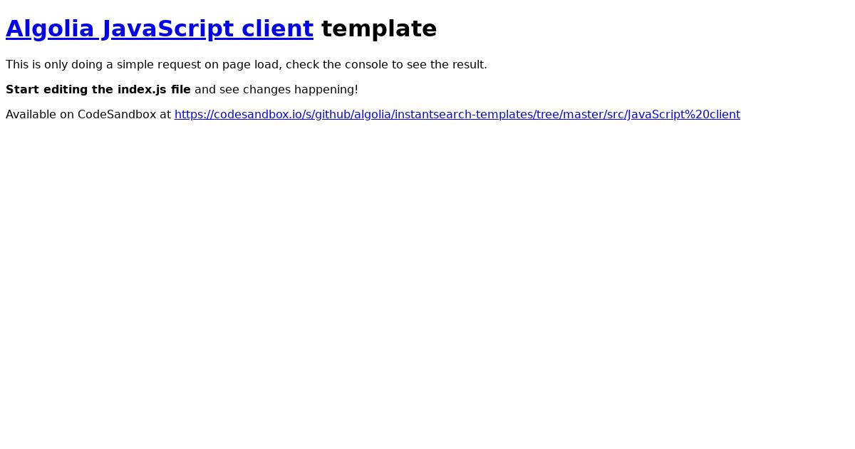 javascript-client-template - CodeSandbox
